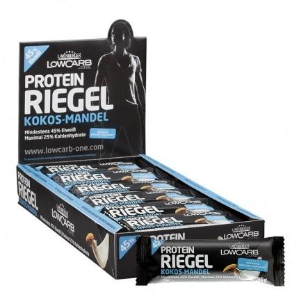 18 x Layenberger LowCarb.one Protein-Riegel Kokos Mandel