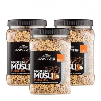 3 x Layenberger LowCarb Protein Müsli Schoko-Nuss