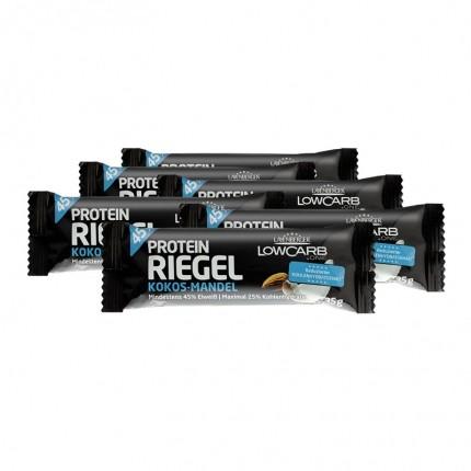 6 x Layenberger LowCarb.one Protein-Riegel Kokos Mandel