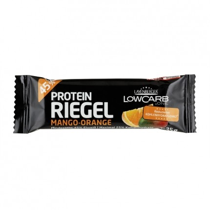 6 x layenberger low carb protein riegel mango orange. Black Bedroom Furniture Sets. Home Design Ideas