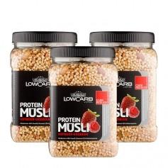 3 x Layenberger LowCarb Protein Müsli Himbeer-Erdbeer