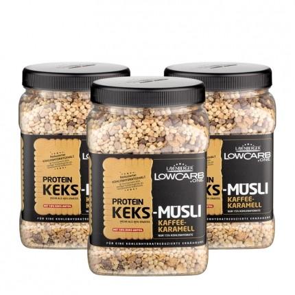 Layenberger LowCarb.one Protein Keks-Müsli, Kaffee-Karamell (3 x 530 g)