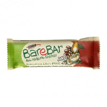 6 x Leader BareBar -patukka, taateli-cashew