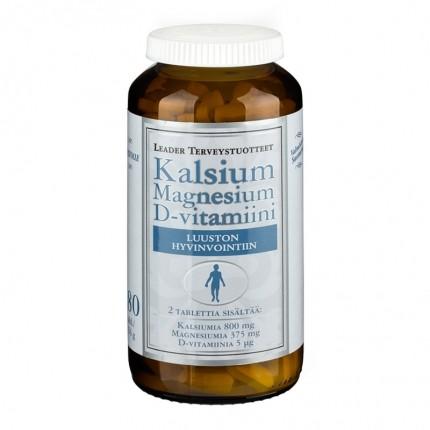 Leader Kalsium + MG + D-vitamiini 180 tab