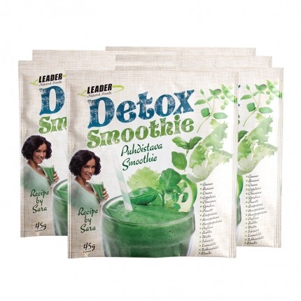 6 x Leader Natural Foods Detox Smoothie, pulver