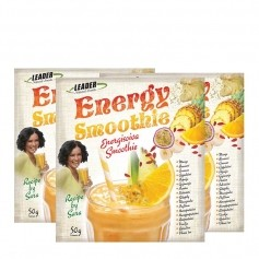3 x Leader Natural Foods Energy -virkistävä smoothie