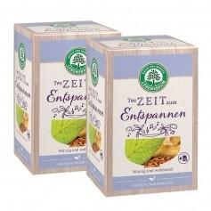 2 x Lebensbaum Teezeit zum Entspannen, Bio-Kräutertee, 20 Beutel