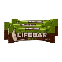 3 x Lifefood lifebar plus - Choco + Green Protein