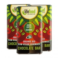 3 x lifefood mini chocolate - Grüner Kaffee + Guarana Bio