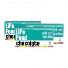 3 x lifefood mini chocolate - Himalayasalz + Spirulina Bio