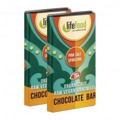Lifefood, Mini chocolats au sel de l'Himalaya & spiruline bio, lot de 2