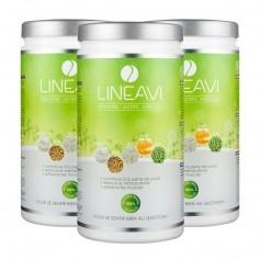 LINEAVI, Substitut de repas, poudre, lot de 3