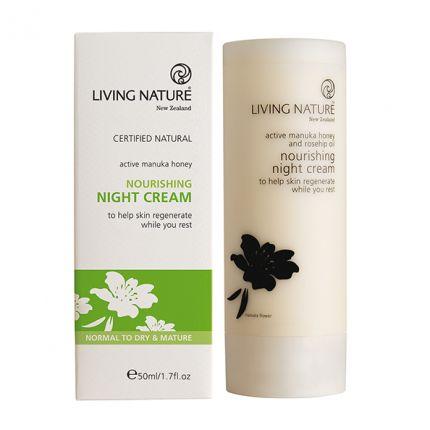 Living Nature Nourishing Nightcream Nährende Nachtcreme