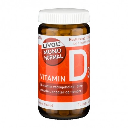 3 x Livol Mono Normal D-vitamin 10 µg, tabletter