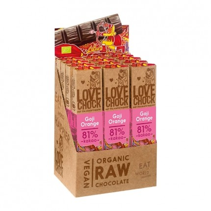 Lovechock 12 x BARS Goji/Orange