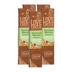 Lovechock Bio rohe Schokolade Creamy, Haselnuss-Matcha