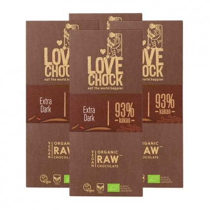 Lovechock Bio rohe Schokolade, 93 % Kakao