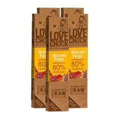 5 x Lovechock rohe Bio Schokolade Mandel/Feige