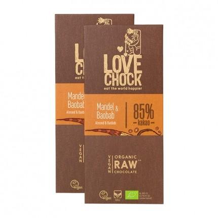 2 x Lovechock Bio-Tablets Süße Mandel & Baobab