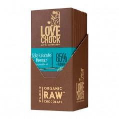 Lovechock Bio rohe Schokolade, Süsse Kakaonibs-Meersalz, Tafel