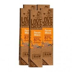 5 x Lovechock rohe Bioschokolade Pecan/Maca