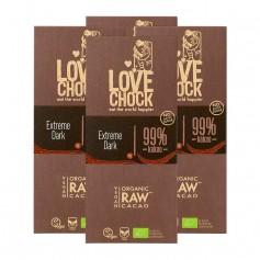 Lovechock Extreme Dark, 99 % Kakao, Tafel