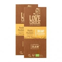 2 x Lovechock Mylk Mullbär/Mandel, vegansk choklad, EKO