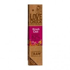 Lovechock rohe Bio Schokolade Kirsch / Chili