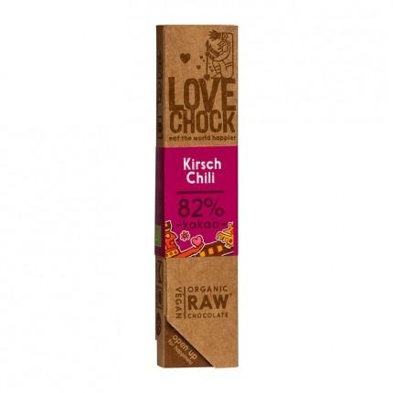 5 x Lovechock rohe Bio Schokolade Kirsch / Chili