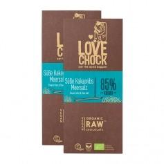 2 x Lovechock Råchoklad med kakaonibs & havssalt, EKO
