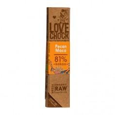 Lovechock rohe Bioschokolade Pecan/Maca