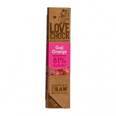 Lovechock Raw - Organic Goji/Orange Chocolate