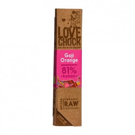 Lovechock Raw - Organic Goji/Orange Chocolate