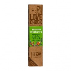 Lovechock Raw - Organic Pineapple/Inca Berry Chocolate