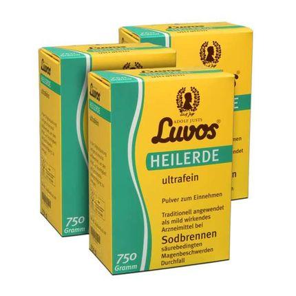 3 x Luvos Heilerde ultrafein, Pulver