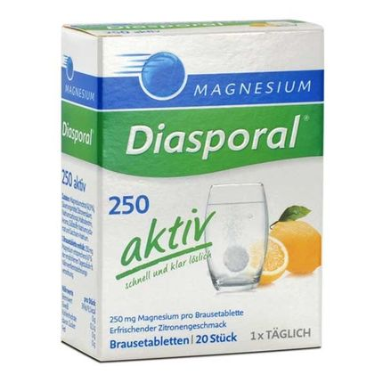 Magnesium Diasporal 250 aktiv, brusetabletter