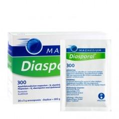 Diasporal Diasporal magnesium 300 annospussi 20 kpl / 100 g