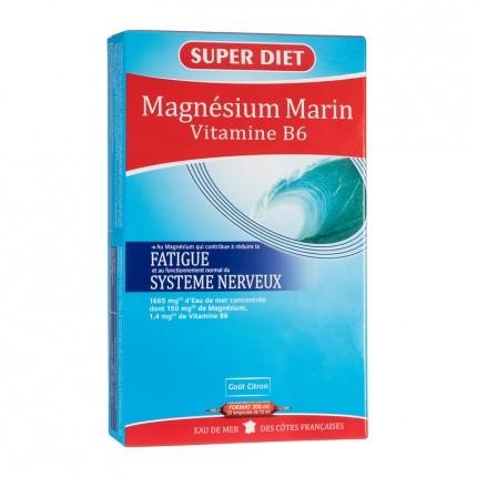 Super Diet Magnésium origine marine et vitamine B6, Ampoules (20 x 15 ml)