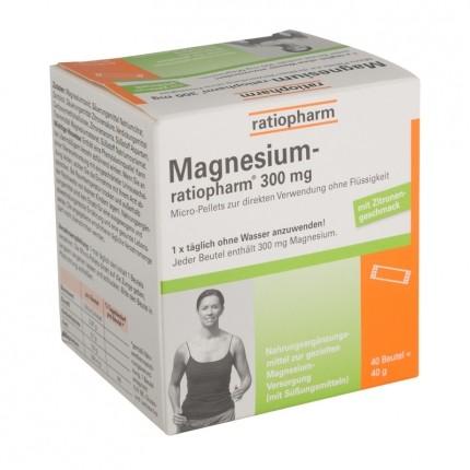 Magnesium ratiopharm 300 mg beutel 40 stück