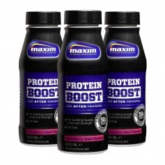 3 x Maxim Strength Protein Boost -proteiinijuoma, mansikka