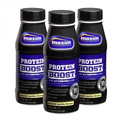 3 x Maxim Strength Protein Boost - Smooth Vanilla