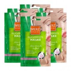 6 x Merz Spezial Feuchtigkeitsmaske Aloe Vera & Joghurt