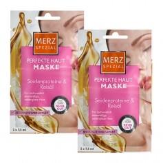 Merz Spezial Hautglättende Maske mit Seidenproteinen & Reisöl Doppelpack