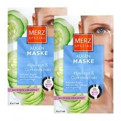 Merz Spezial, Masque contour des yeux à l'extrait de concombre et à l'acide hyaluronique, lot de 2