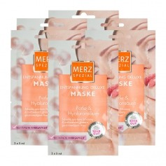 6 x Merz Spezial Spa Deluxe Entspannungs-Maske Perle & Hyaluron