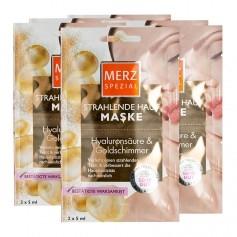 6 x Merz Spezial Spa Deluxe Hautverschönernde Maske Goldschimmer & Hyaluron