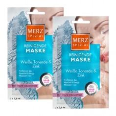 Merz Spezial Reinigende Maske mit weisser Tonerde & Zink Doppelpack