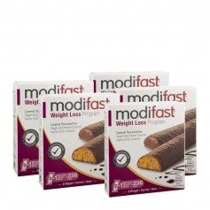 5 x modifast Lunch Riegel Karamell
