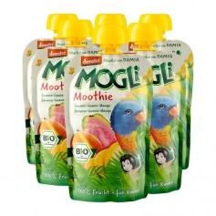 6 x Mogli Moothie Bio-Fruchtsnack Banane-Guave-Mango