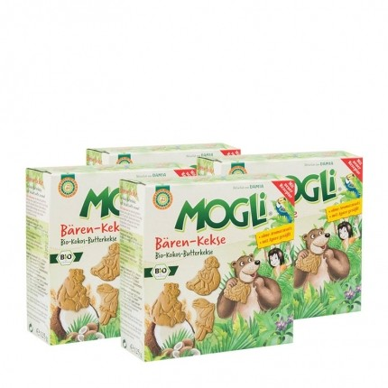 4 x Mogli Bären-Kekse Bio-Kokos-Butterkekse